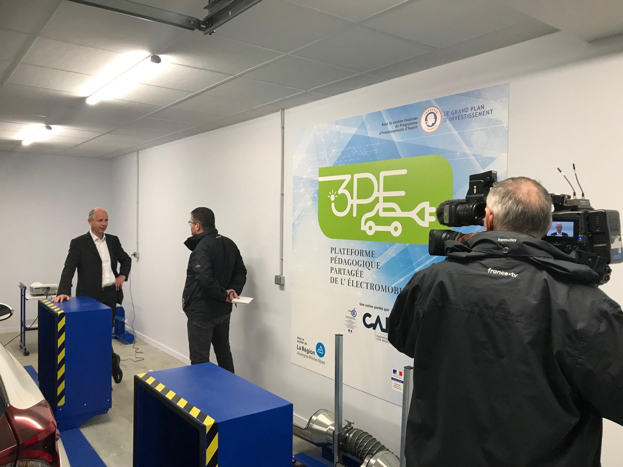 Implication dans le projet 3PE – Plateforme Pédagogique Partagée de l'Electromobilité