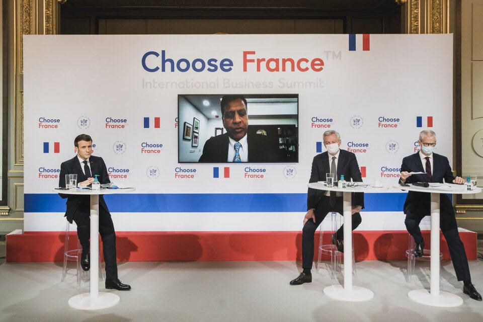 Choose France Summit 2021, en présence d'Emmanuel Macron